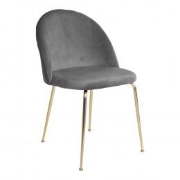 Jídelní židle GENEVE modrý samet,mosazné nohy