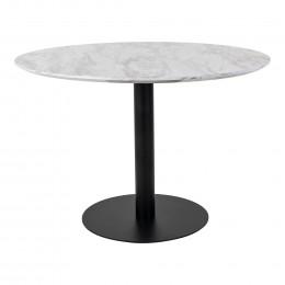 Jídelní stůl BOLZANO HOUSE NORDIC ø110x75cm,mosaz,mramor