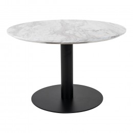 Coffee stůl BOLZANO HOUSE NORDIC ø70x45cm,černý kov, mramor