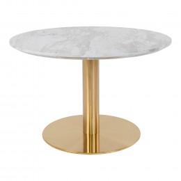 Coffee stůl BOLZANO HOUSE NORDIC ø70x45cm,mosaz, mramor