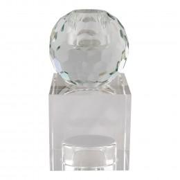 Svícen skleněný TORCELLO ø6x11,5 cm čirý