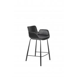 Barová židle BRIT ZUIVER, tmavě šedá sametová