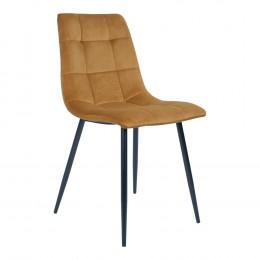Jídelní židle MIDDELFART samet, hořčicová žlutá