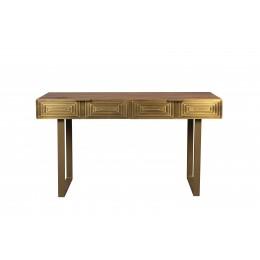 Konzolový stůl VOLAN DUTCHBONE zlatý, masivní dřevo