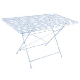 Zahradní kovový stůl LINES, světle modrý