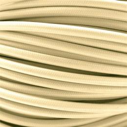 Kabel textilní krémový