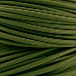 Kabel textilní tm. zelený