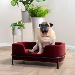 Pohovka sametová PET pro zvířecího mazlíčka, červená