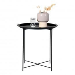 Konferenční stolek VENEZIA HOUSE NORDIC ø48 cm,černý