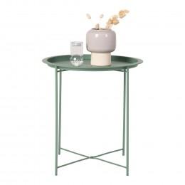 Odkládací stolek BASTIA HOUSE NORDIC ø46,8 cm, kov zelený
