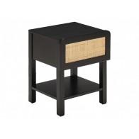 Noční stolek GALANT LEITMOTIV s 1 zásuvkou, dřevo černé