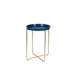 Odkládací stolek kulatý CELINA ZUIVER ø42 cm, smaltovaný zelený