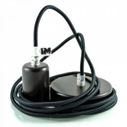 Lak 1-závěsná žárovka černá