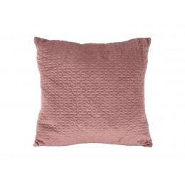 Polštář HEXAGON PRESENT TIME 45 cm, samet růžový