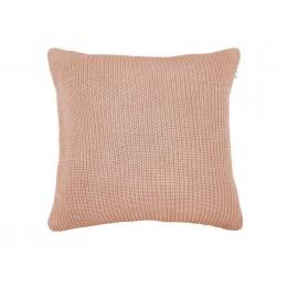 Polštář KNITTED LINES PRESENT TIME 45 cm, růžový bavlna