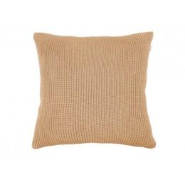 Polštář KNITTED LINES PRESENT TIME 45 cm, písková hnědá bavlna