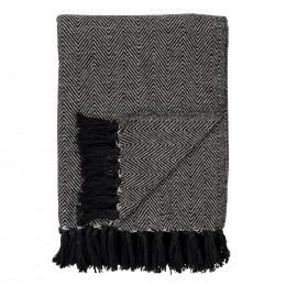 Pléd CORT HOUSE NORDIC bavlna, tmavě šedý