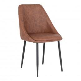 Jídelní židle PORTO PU kůže, hnědá