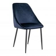 Jídelní židle PORTO samet, modrá