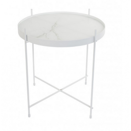Stolek Cupid Marble ZUIVER White