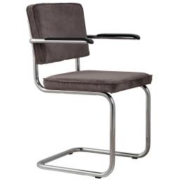 Židle s područkou Ridge Rib grey