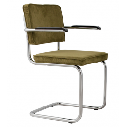 Židle s područkou Ridge Rib green