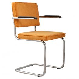 Židle s područkou Ridge Rib yellow