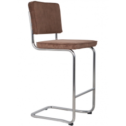 Ridge Kink Rib Barstool Brown