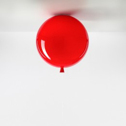 Stropní Memory triplex sklo, červená