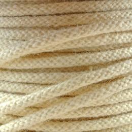 Kabel textilní vlna, bílý