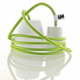 Silikon 1-závěsná žárovka, green/white