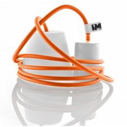 Silikon 1-závěsná žárovka, orange/white