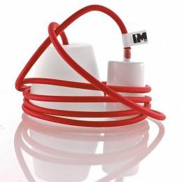Silikon 1-závěsná žárovka, red/white