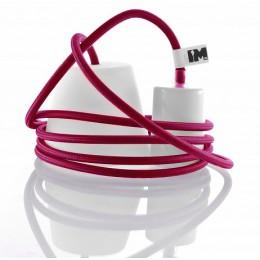 Silikon 1-závěsná žárovka, pink/white
