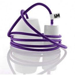 Silikon 1-závěsná žárovka, violet/white