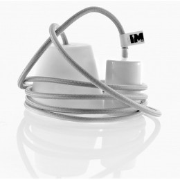 Silikon 1-závěsná žárovka, grey/white