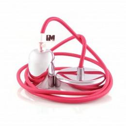 Lak 1-závěsná žárovka chrom/pink