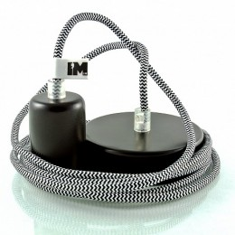 Lak 1-závěsná žárovka šedá