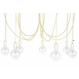 Závěsný lustr IMIN 7 žárovek, lak/vlna bílá