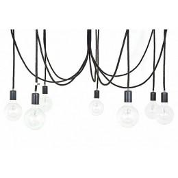Závěsný lustr IMIN 7 žárovek,lak/vlna černá