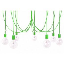 Závěsný lustr IMIN 7 žárovek,lak green