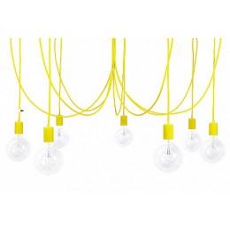 Závěsný lustr IMIN 7 žárovek,lak yellow
