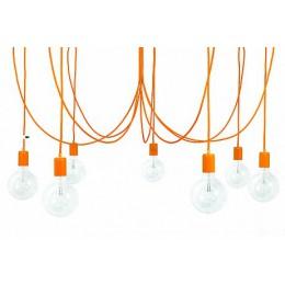 Závěsný lustr IMIN 7 žárovek, lak orange