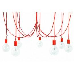 Závěsný lustr IMIN 7 žárovek, lak red