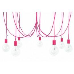 Závěsný lustr IMIN 7 žárovek, lak pink