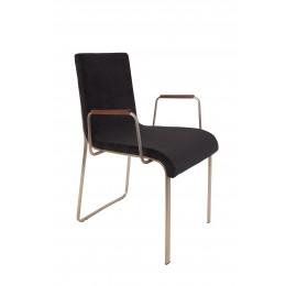 Jídelní židle s područkama FLOR ZUIVER, black