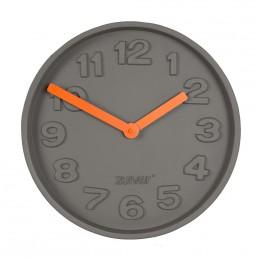 Hodiny ZUIVER CONCRETE TIME z betonu s oranžovými ručičkami