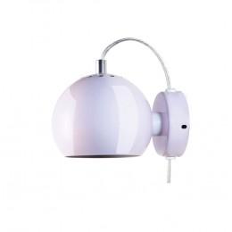Ball light pink glossy, nástěnné svítidlo Ø12 cm,světle růžové