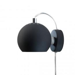 Ball black matt, nástěnné svítidlo Ø12 cm,černé