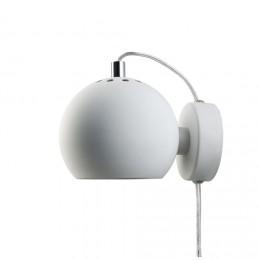 Ball white matt, nástěnné svítidlo Ø12 cm,bílé